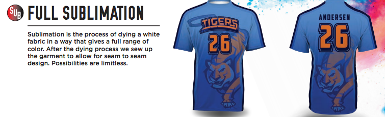 game gear full sublimation: sublimated jerseys, pants, uniforms for athletic teams
