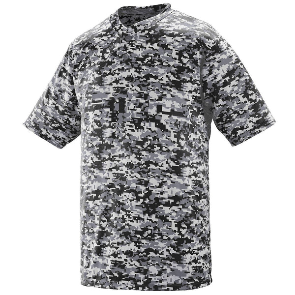 Youth Digi Camo Wicking Two-button Jersey