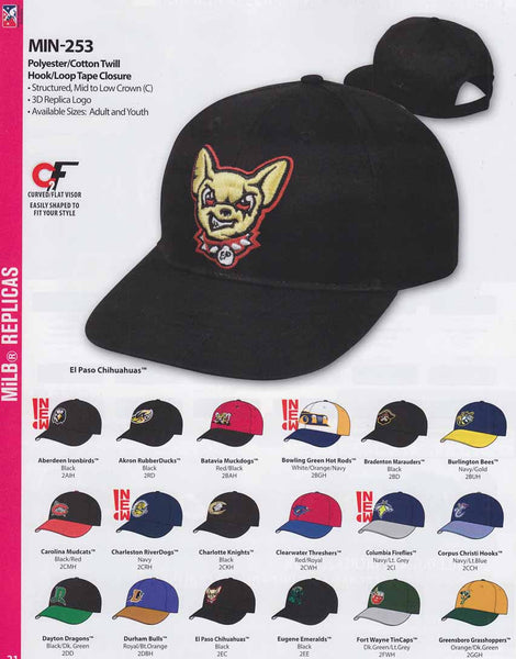 MiLB minor league baseball caps