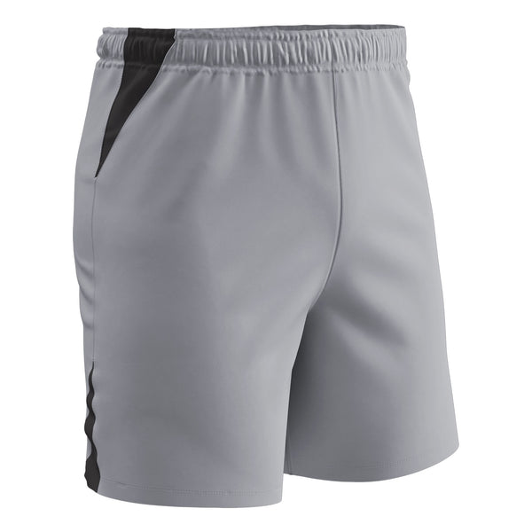 Champro Soccer Short; S; Grey, Black; Adult: SS6