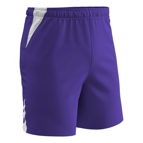 Champro Soccer Short; XL; Purple, White; Youth: SS6