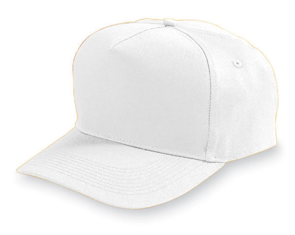 Five-panel Cotton Twill Cap-adult