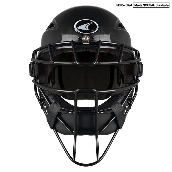 Champro Youth HEL-MAX One-Piece Headgear; Black: CM3-XT