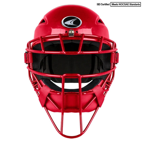 Champro Youth HEL-MAX One-Piece Headgear; Scarlet: CM3-XT
