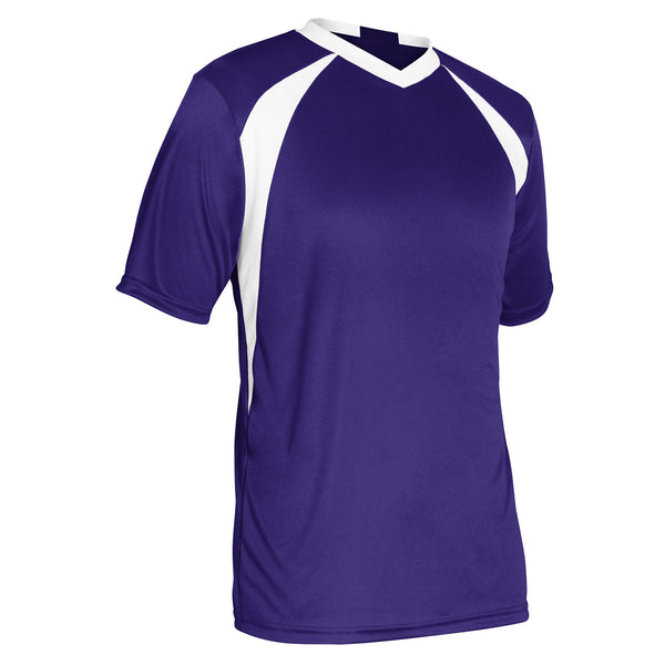 Champro Sweeper Soccer Jersey; L; Purple,White; Youth: SJ30