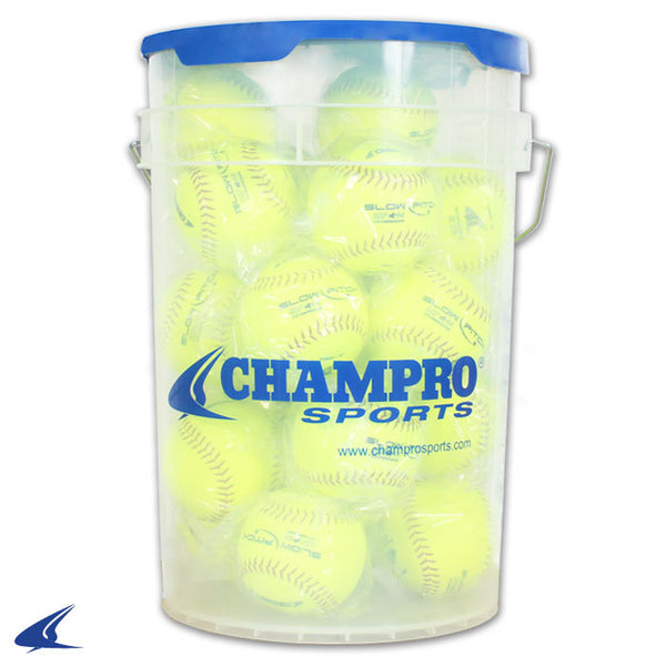 "Champro 11"" Slow Pitch - Durahide Cover; PU Core - Bucket w/2 dz.: CSB-GSP11X"