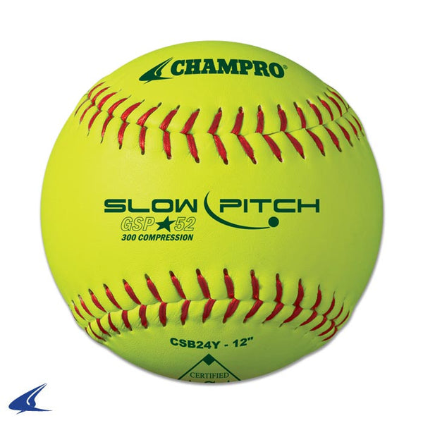 "Champro ASA 12"" Slow Pitch - Durahide Cover .52 COR: CSB24Y"