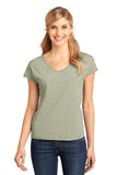 CLOSEOUT District Made - Ladies Mini Stripe Dolman V-Neck Tee. DM422