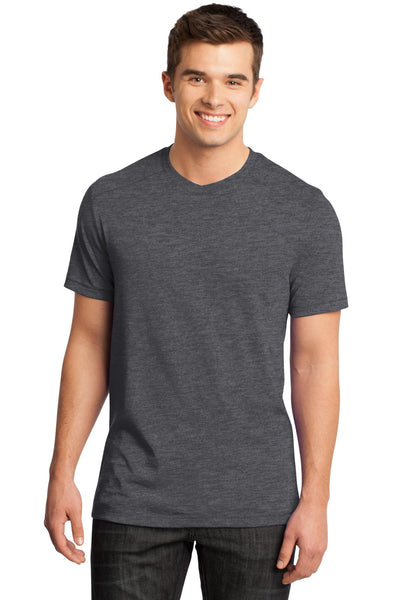 District - Young Mens Gravel 50/50 Notch Crew Tee. DT1400