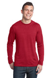 CLOSEOUT District - Young Mens Textured Long Sleeve Tee. DT171