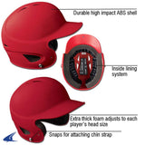 Champro Rubberized Matte Finish Performance Batting Helmet; Neon Green; T-Ball: H4M