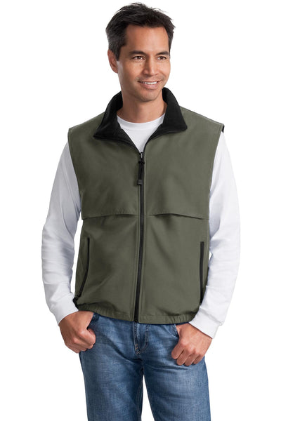 CLOSEOUT Port Authority Reversible Terra-Tek Nylon and Fleece Vest. J749