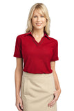 CLOSEOUT Port Authority Ladies Silk Touch Piped Polo. L502