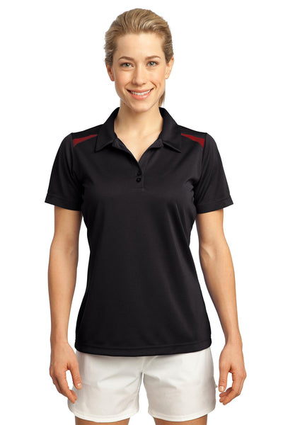 CLOSEOUT Sport-Tek Ladies Vector Sport-Wick Polo. LST670