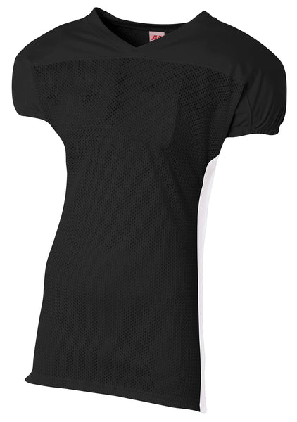 A4 Titan 4-Way Stretch Football Jersey; boys/ youth