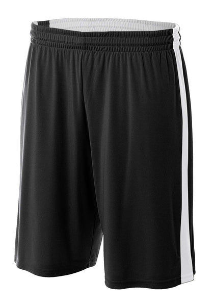 "A4 8"" Reversible Moisture Management Short; boys/ youth"
