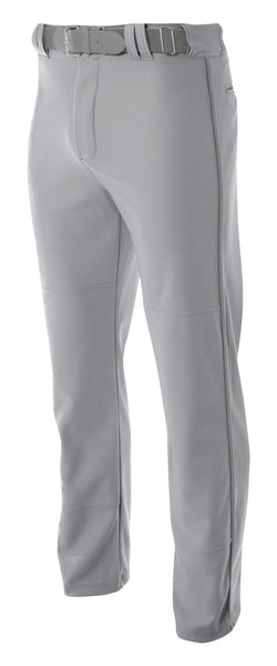 A4 Pro-Style Open Bottom Baseball Pant; boys/ youth