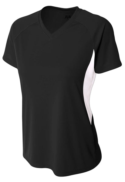 A4 Color Block Performance V-Neck; WOMENS