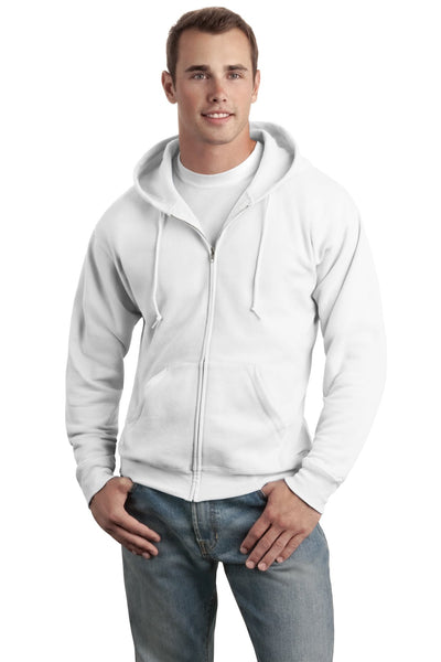 Hanes - EcoSmart Full-Zip Hooded Sweatshirt. P180