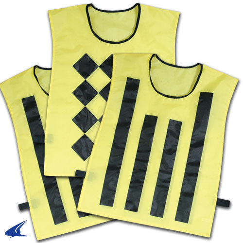 Champro Sideline Official Pinnies (set of 3, 1 Diamond/2 Striped): P422