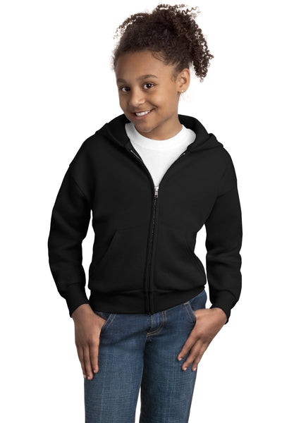 Hanes - Youth EcoSmart Full-Zip Hooded Sweatshirt. P480