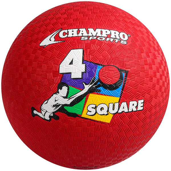 "Champro 8.5"" Playground Ball; 4-Square; Red: PG854SQ"