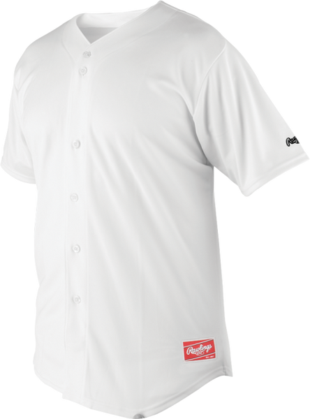 Rawlings RBJ150-W-88 FULL BUTTON JERSEY