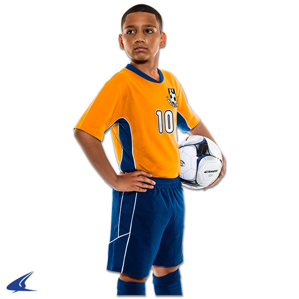 Champro Header Soccer Short; XS; Navy,Navy,White; Youth: SS10