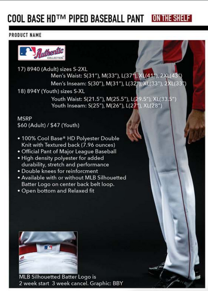 majestic coolbase baseball pants