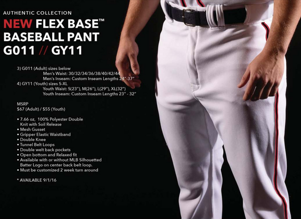 MAJESTIC FLEXBASE PANT FOR BASEBALL SOFTBALL