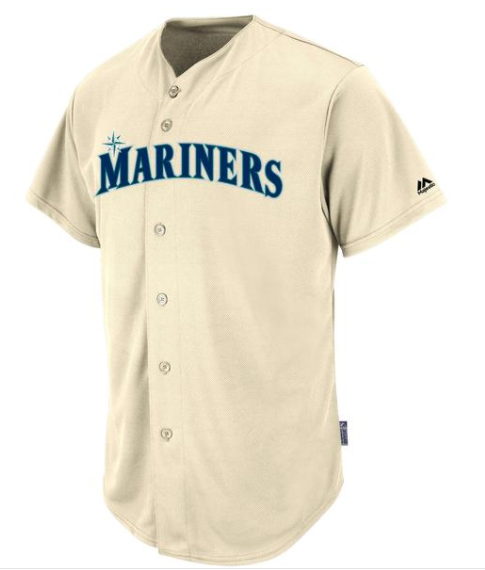 MAJESTIC MARINERS WOVEN LOGO YOUTH SHORT SLEEVE COOLBASE JERSEY