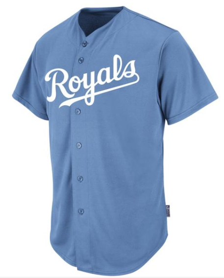 MAJESTIC ROYALS WOVEN LOGO YOUTH SHORT SLEEVE COOLBASE JERSEY