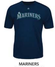 MAJESTIC MARINERS TEAM COOLBASE BETTER ADULT SHORT SLEEVE SYNTH TEE