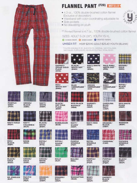 Boxercraft Plaid Flannel Pant, Model #F20