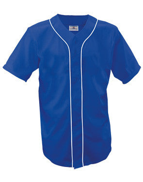 Teamwork Adult Warning Track Piped Full Button Jersey   style 1852B