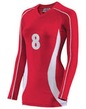 Teamwork Women's Cobra Long Sleeve Volleyball Jersey   style 1979