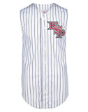 Teamwork Adult Sleeveless Pinstripe Poly Jersey   style 1752B