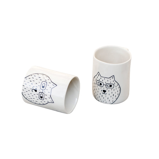 Beker 'Little Bear Bril' off white