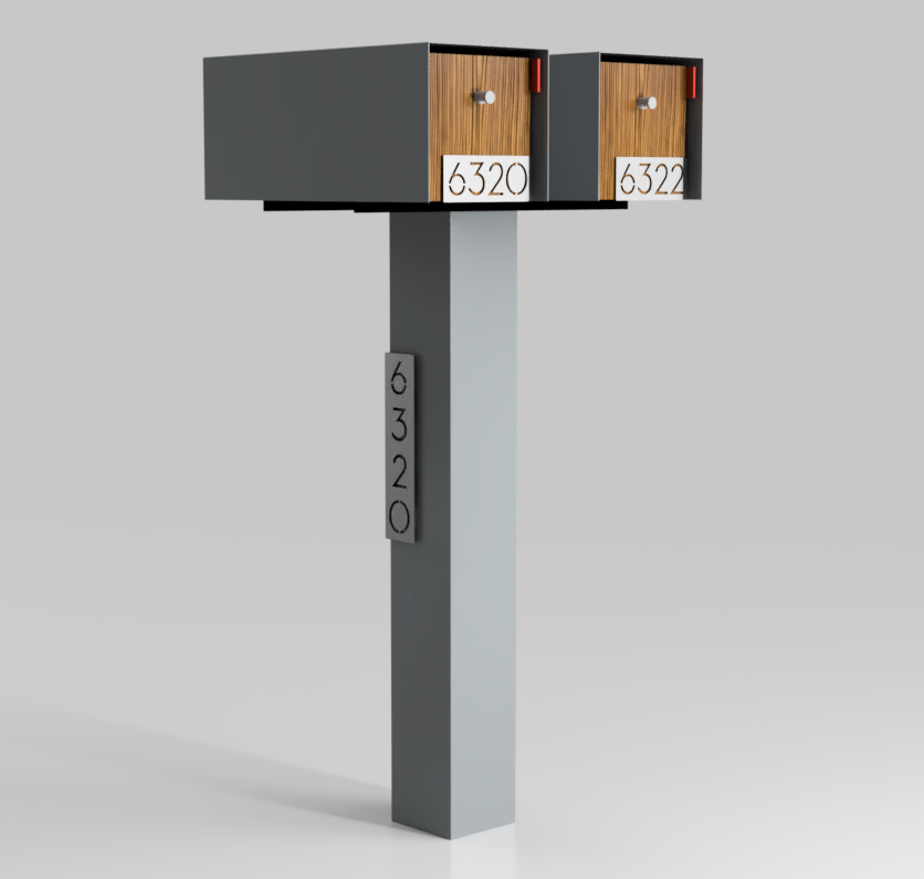 Double Mailbox Mounting Bracket