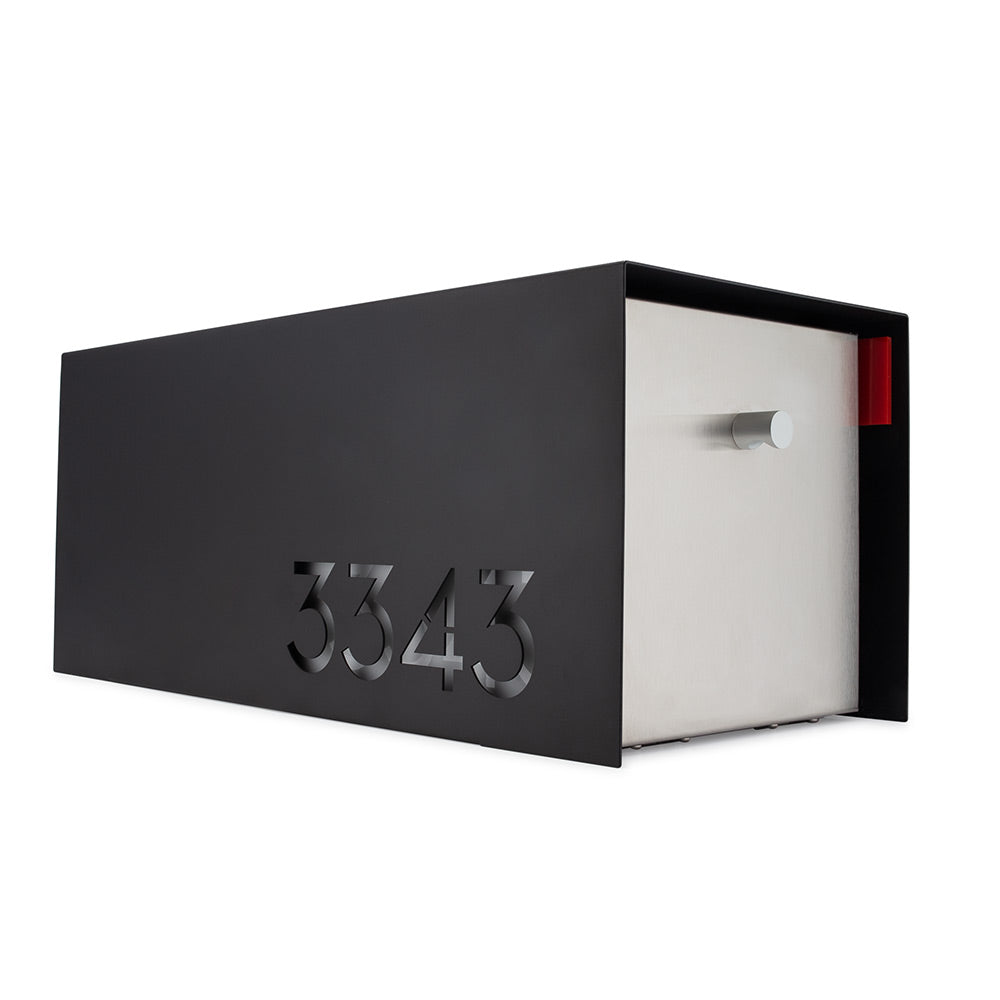 Modern Mailbox | Custom Mailboxes | by Deus Modern | Matte Black and Stainless Steel