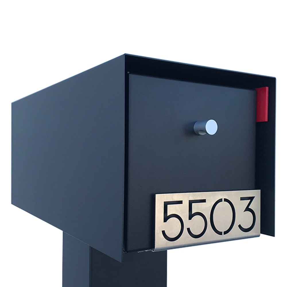 CUSTOM NUMBER PLATES - MAILBOX MOUNTED