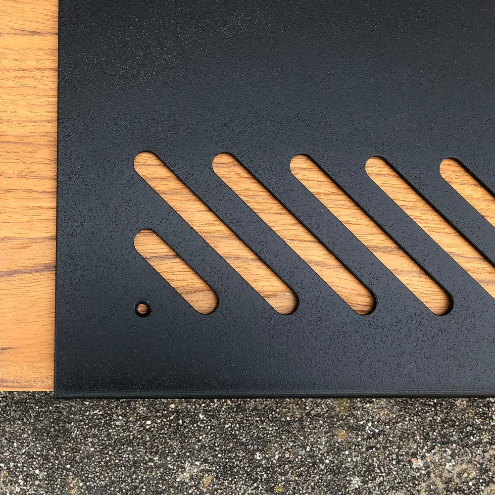 "MODERN STAIR TREADS - 32"" - Slotted Top View"