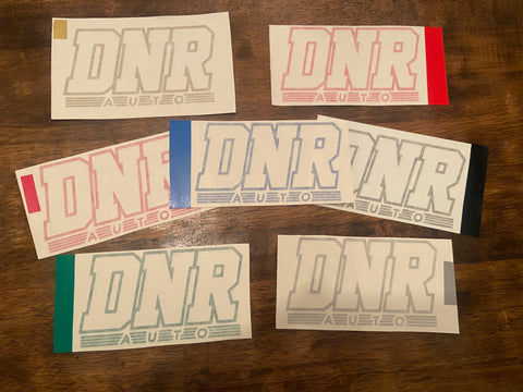 DNR Auto Die Cut Stickers