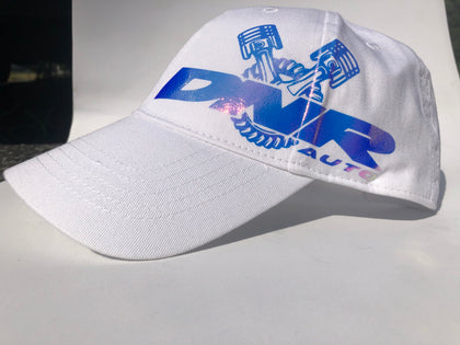 Women's white color shift logo hat