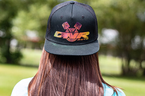 Men's color shift mesh snap back