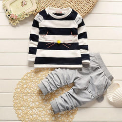 Cartoon Cat Shirt +Pants set - Theitkidsboutique