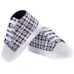 Toddler Plaid Soft Sole Shoes - Theitkidsboutique