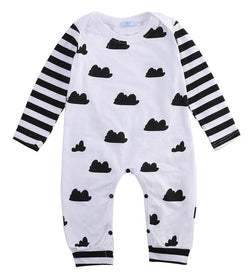 Black + White Cloud Romper - Theitkidsboutique