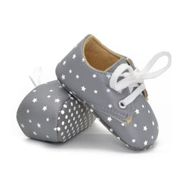 Girls Star Patterned Lace-up Shoes - Theitkidsboutique