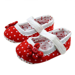 Girls Polka Dot Soft Sole Shoes - Theitkidsboutique
